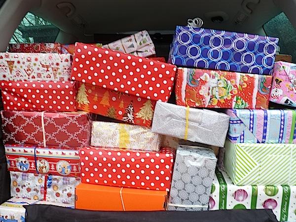 Unsere Päckchen für Satu Mare.
