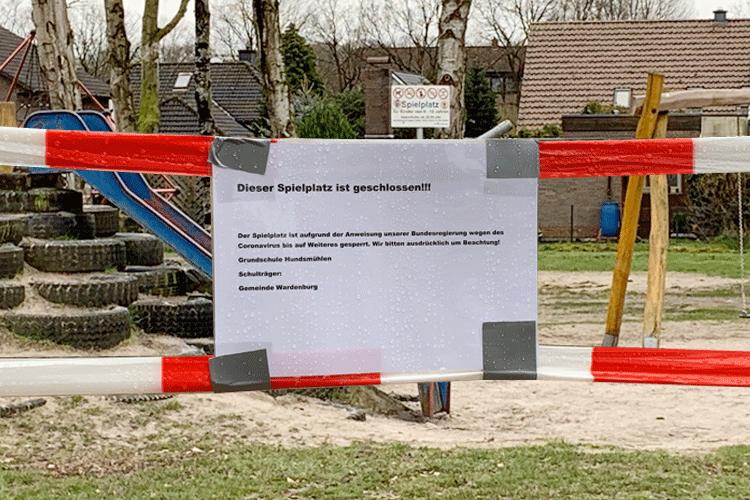 Spiel- und Sportplatz gesperrt